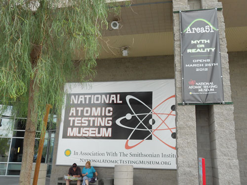 The National Atomic Testing Museum in Las Vegas, where the Area 51 Myth or Reality exhibit is located and where the UFO military panel took place. (Credit: Antonio Huneeus)
