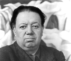 The famous Mexican muralist and painter Diego Rivera