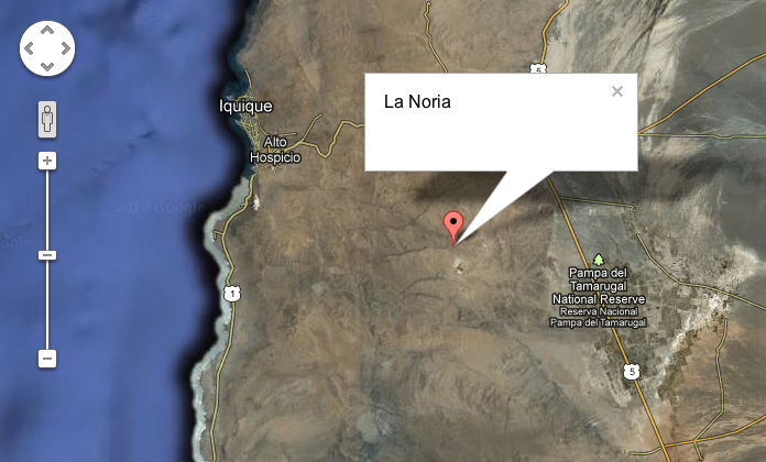 La Noria Google map