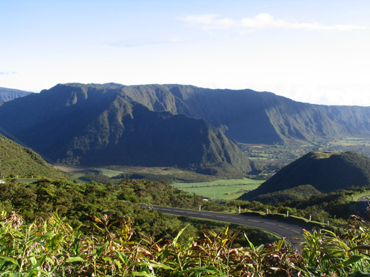 A view of the Plaine des Palmistes in Reunion Island. (image credit: Jo Kerozen)