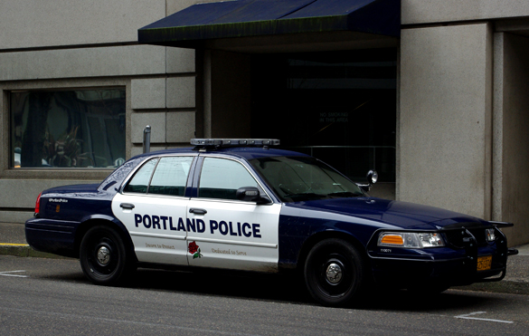 Portland Police cruiser. Police officers were the primary witnesses in this case. (Credit: M.O. Stevens)