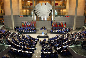 Plenary session of the German Bundestag (credit: Kopp Online)