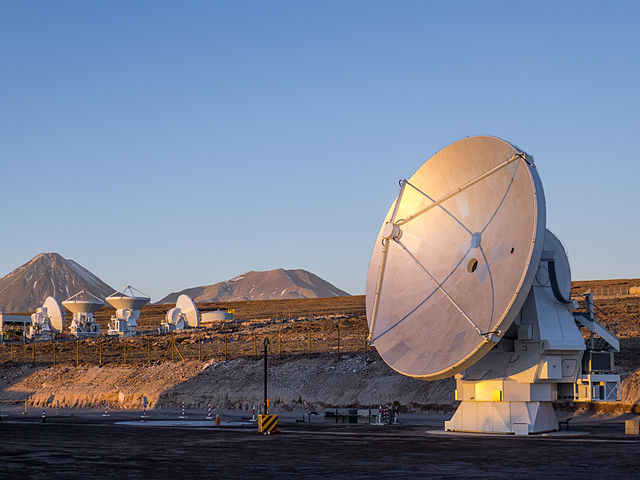 The ALMA. (Credit: ESO/C. Pontoni)