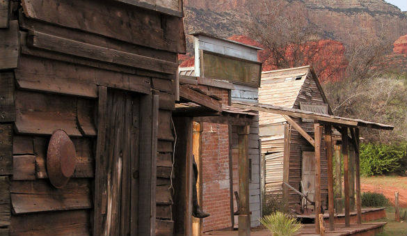Part of a western set used in commercial shoots at the Bradshaw Ranch. (Credit: Sedona Monthly)