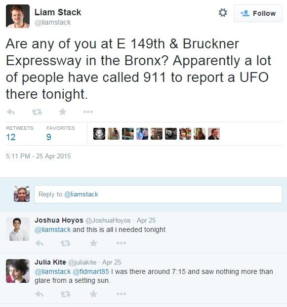 911 NYPD UFO Tweet 2