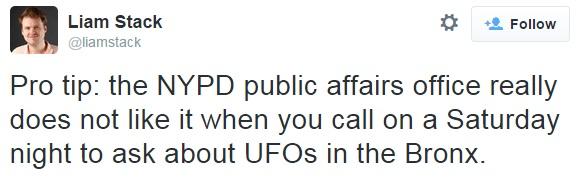 911 NYPD UFO Tweet 3