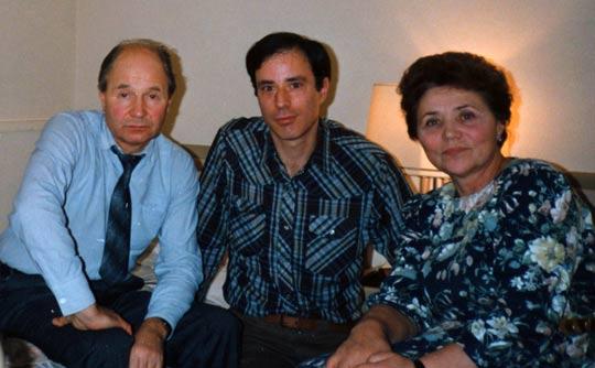 From left: Dr. Vladimir Azhazha, Antonio Huneeus, Marina Popovich