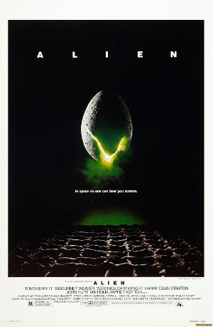 Movie poster for Alien. (Credit: 20th Century Fox)