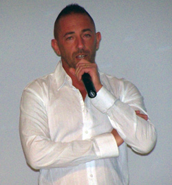 Antonio Urzi speaking in Mexico in March 2010.