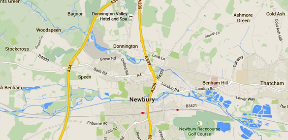 Map showing Ashmore Green. (Credit: Google Maps)