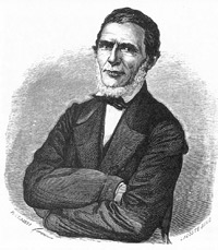 Engraving of Augusto Lerverger in 1865 by Bartolomé Bossi (image credit: Wikimedia Commons)