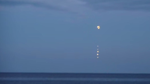 A still from the second Baltic Sea UFO video.  (Credit: YouTube/RieseOlbzym)