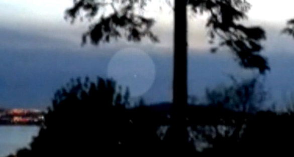 UFO video taken over Belfast Lough in Northern Ireland