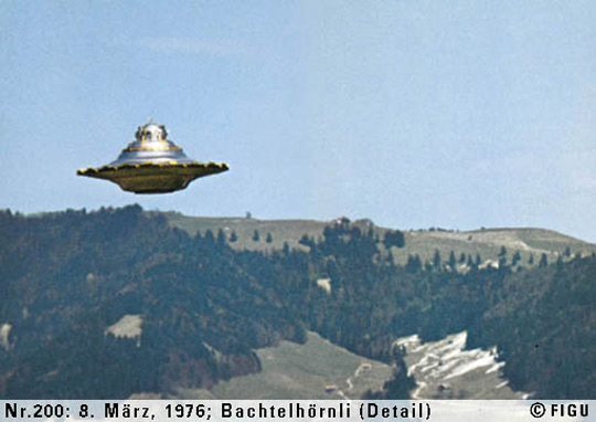 UFO photo taken by Billy Meier.