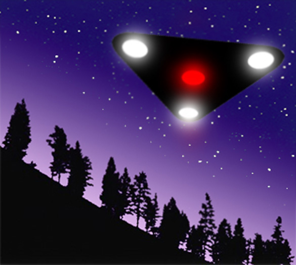 Artist rendering of a black triangle UFO. (Credit: SkeezerPumba/Wikimedia Commons)