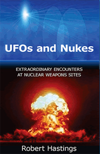 Book cover to Robert Hastings' UFOs and Nukes.