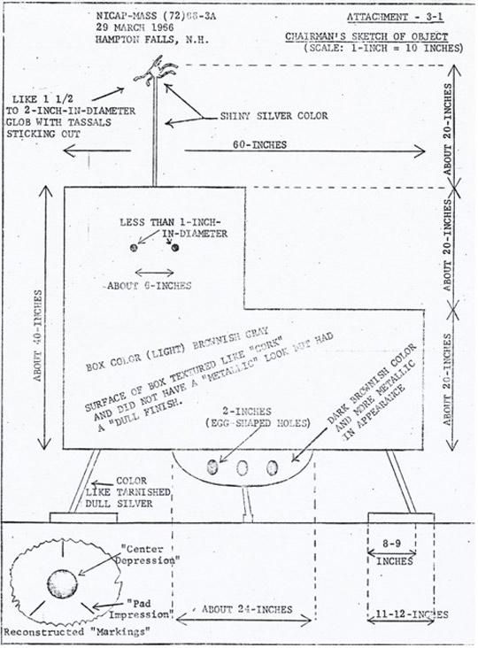 Box shaped UFO schematic