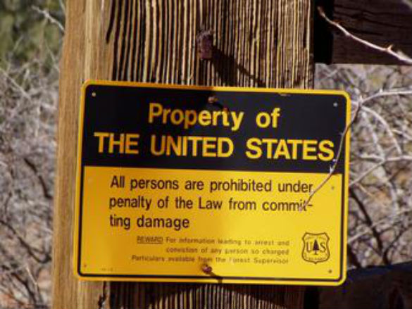US Forest Service sign at Bradshaw Ranch. (Credit: Cottonwood Hotel)