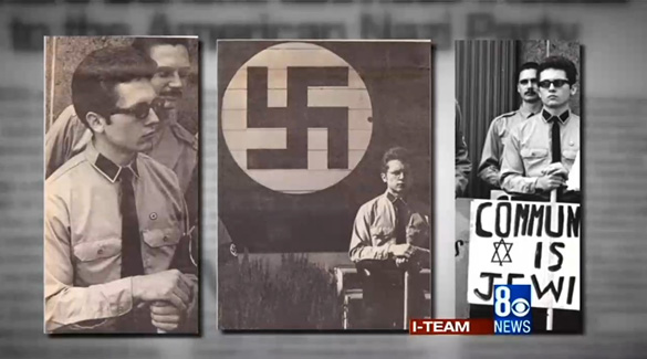 Pictures of Bunck in Nazi uniform in the 70s. (Credit: 8 News Now)