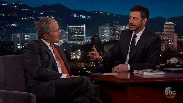 George Bush on Jimmy Kimmel Live! (Crerdit: YouTube/Jimmy Kimmel Live)