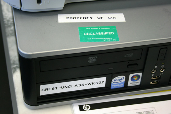 CIA Records Search Tool (CREST) workstation- National Archives and Records Administration, College Park, MD. (Credit: Shepherd Johnson)