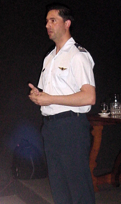 Press spokesman of the AAF, Captain Mariano Mohaupt.