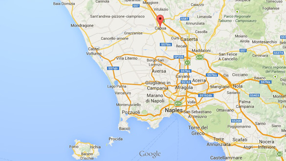 Map of Capua. (Credit: Google Maps)