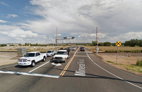 A Colorado witness at Gunbarrel noticed a hovering disc while waiting at a train stop light and both the witness and the UFO moved on once the trained passed. (Credit: Google)