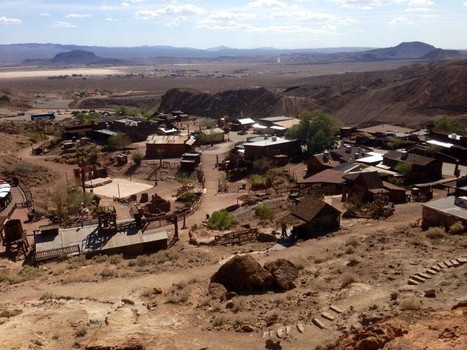 Witnesses recall a 300-foot-wide triangle UFO that moved over Calico Ghost Town in California. (Credit: Wikimedia Commons)