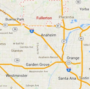 The case was reported in Fullerton, Orange County, California. (Credit: Google)