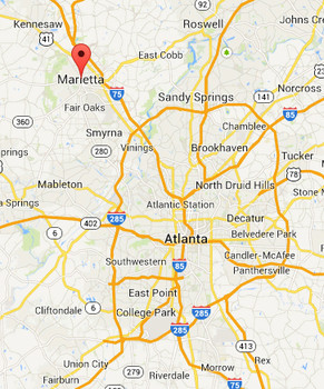 The case was reported in Marietta, Cobb County, Georgia. (Credit: Google)