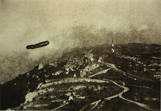 UFO photo taken in the Caucasus region, published in the Soviet Military Review.
