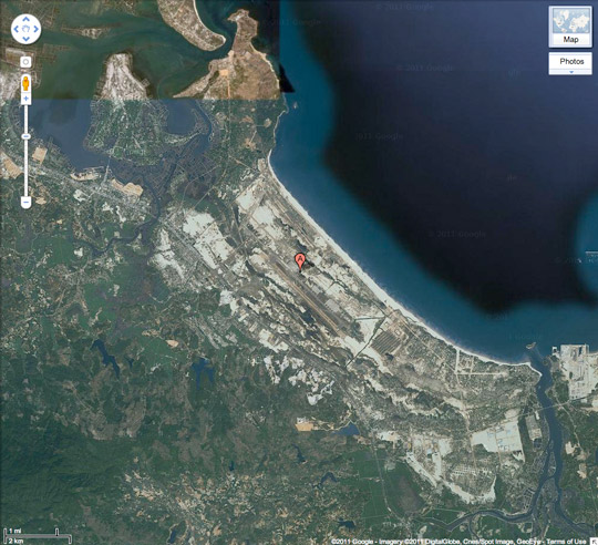 Google map of Chu Lai.