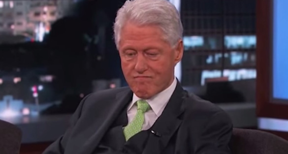 Clinton answering UFO questions on Jimmy Kimmel Live!