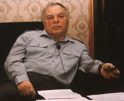 Retired Colonel Boris Sokolov (image credit: George Knapp).