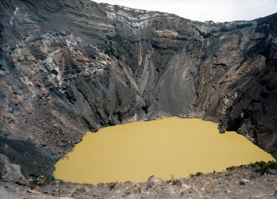 The crater of Irazú Volcano outside San José.