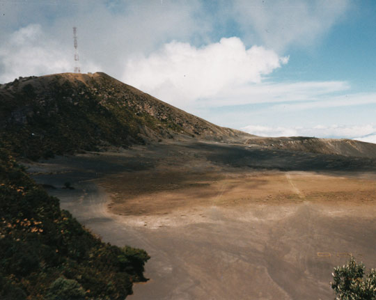 The location on the Irazú Volcano where Enrique Castillo Rincón had his first UFO experience in 1963.