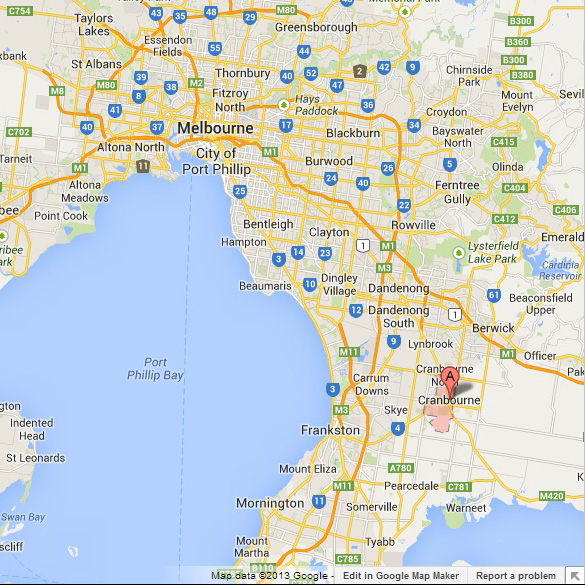 Cranbourne-AUS-Map