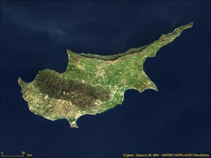 Cyprus from satalite (image credit: NASA)