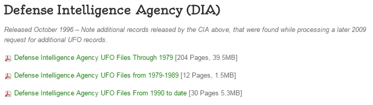 DIA Files on TheBlackVault