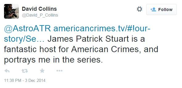 David Collins Stuart Tweet
