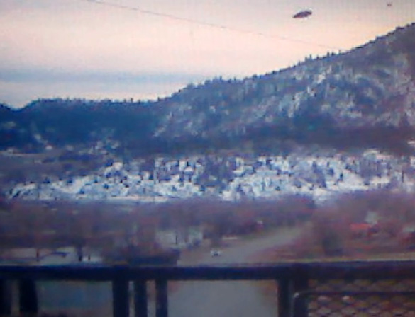 UFO photo taken by Dory Vigil in Dulce, New Mexico. See video below. (Credit: Dory Vigil)