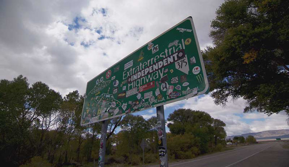 Extraterrestrial highway Sign. (Credit: 8 News Now)