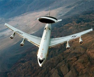 A U.S. Air Force E-3 Sentry aircraft. (Credit: USAF)