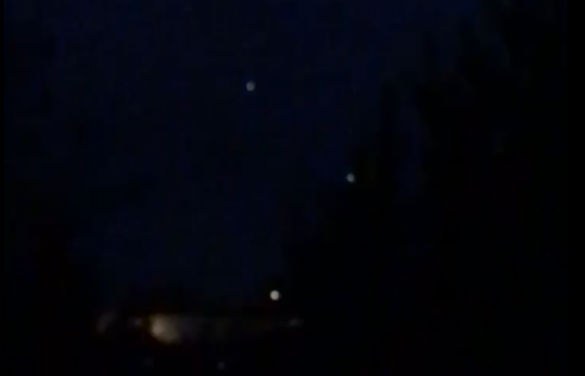 UFO video from Great Britain of lights in the sky. (Credit: MUFON)