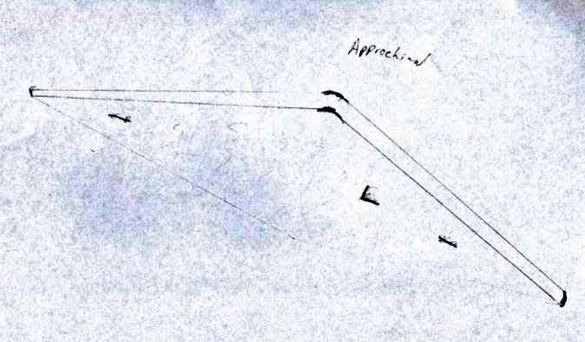 Witness sketch of UFO. (Credit: MUFON)