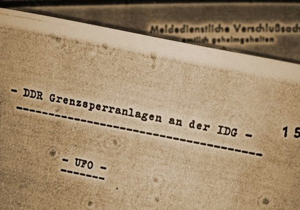 "Front page of the ""UFO""-files of the German foreign secret intelligence agency ""Bundesnachrichtendienst"" (BND). 