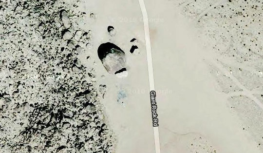 Giant Rock satelite image. (image credit: Google Maps)