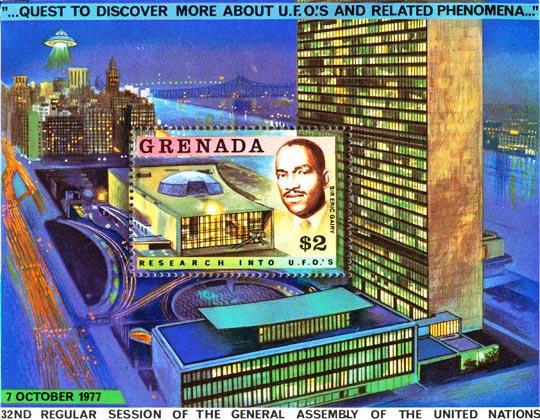 Granada UN UFO stamp.