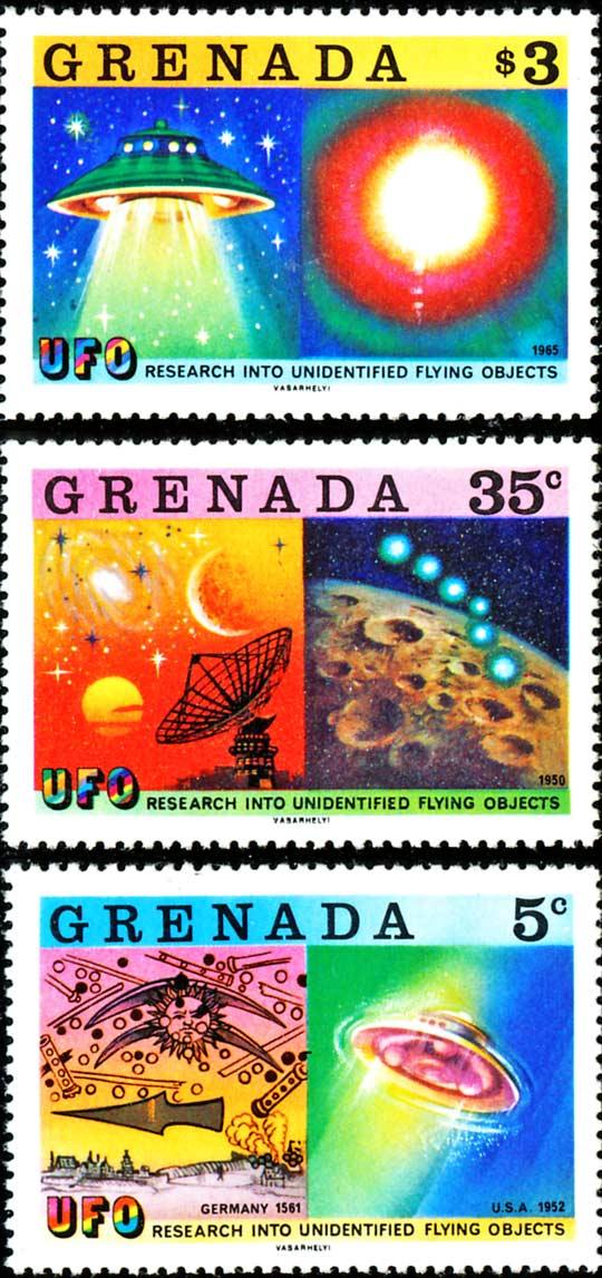 Granada UN UFO stamps.
